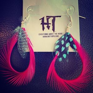 Hot Topic Feather Earrings